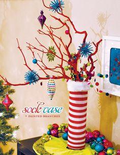 colorful Christmas center piece