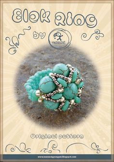 *P Ring tutorial / pattern Elek ring-PDF instruction for personal use only. $8.00, via Etsy.
