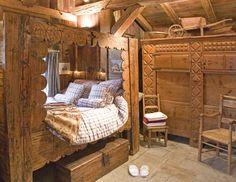 Location Chalet Les Trolles Avec Cheminee A Chamonix Mont Blanc Hotel Les Chalets De Philippe Lit En Alcove Chalet Lit Coin