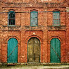 Random red brick building in the rural Buckhead, Ga not Atlanta's Buckhead.