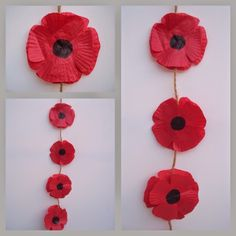 HMT Mixed Media Artist - making a poppy garland using cupcake cases