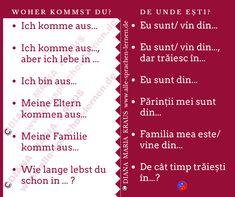 Woher kommst Du? De unde ești? | Deutsch Rumänisch - Rumänisch Lernen Sprachkurs Words, Language, Studying, Horse
