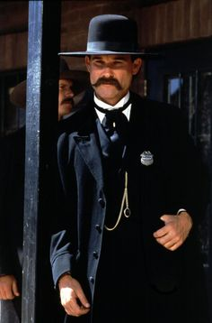 """Tombstone, with Kurt Russell as Wyatt Earp. One of my all time favorite Westerns.""""I'm your huckleberry"""". He's the hottest ever. Tombstone Movie, Tombstone 1993, Kurt Russell Tombstone, Wyatt Earp Tombstone, Tombstone Sayings, Old West, O Cowboy, The Lone Ranger, Tv Westerns"""