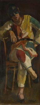 Arlequin à Medrano, Edmond Amédée Heuze