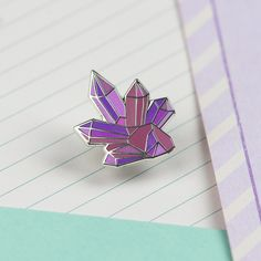 Crystal Cluster Enamel Pin  FOLLOW  Unicorn Glow   Instagram - @tunikatalks_  2nd pinterest- LilacCryBaby