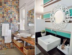 papel de parede para lavabo rustico - Pesquisa Google