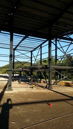 Executie si Montare Hala Spaleck Resita - Structuri metalice | Duna-steel.ro Steel Structure, Metal, Dune, Steel Frame, Metals