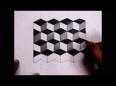 How to draw an optical illusion: Easy - YouTube