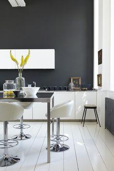 dark grey kitchen by little greene lamp black and loft white
