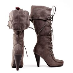 Halston laced taupe boot -- Pirate Boots. I literally gasped out loud when I saw these.