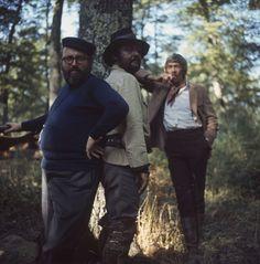 """Sergio Leone, Rod Steiger et James Coburn sur le tournage de """"Duck, You Sucker"""". 1971."""