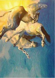 Edwin Salomon - Wild Horses in Blue Wild Horses, Great Artists, Blue, Wild Mustangs