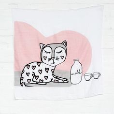 big muslin wrap en snooze blanket with Kitty Kippin Baby Body Temperature, Muslin Baby Blankets, Swaddle Wrap, Baby Love, Cuddling, Baby Shower Gifts, New Baby Products, Kitty, Animal Illustrations
