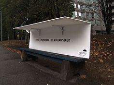 A Vancouver charity, RainCity Housing, is converting city benches into pop-up shelters for homeless people. And by giving homeless people in this rainy city some dry coverage and a place to rest, RainCity is putting London's anti-homeless spikes to shame. Vancouver, Urban Furniture, Street Furniture, Homeless Housing, Homeless Shelters, Homeless People, Marquise, Things To Do In London, Wraps