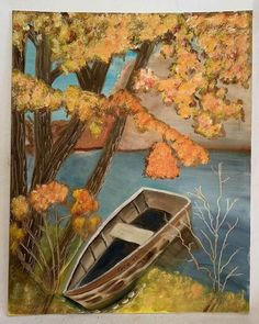 New Row Boats Painting Lakes Ideas Orange Painting, Boat Painting, Boating Outfit, Burnt Orange, The Row, Folk Art, Art Paintings, Lakes, Fall