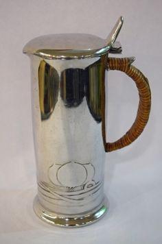 Art Nouveau English Pewter Tankard #artnouveau #pewter #english