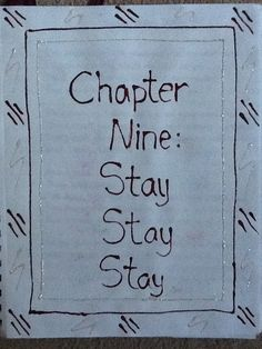 Track 9 - Stay Stay Stay - Pastel Pencil - Front Page