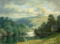 Chapel Farm and the River Wye Hanmer Griffith Art Uk, Some Image, Local History, Oil On Canvas, How To Find Out, Art Gallery, Castle, British, River
