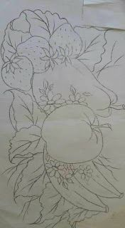 Ideas Painting Fabric Art For 2019 Fruit Painting, Tole Painting, Fabric Painting, Fabric Art, Colouring Pages, Coloring Books, Embroidery Patterns, Hand Embroidery, Diy And Crafts