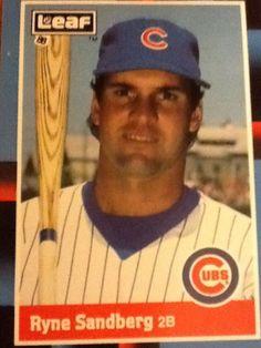 Ryan Sandberg - Leaf 1988, Chicago Cubs Baseball Card #207 #ChicagoCubs