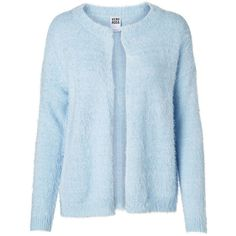 Vero Moda Long Sleeved Cardigan (70 BRL) ❤ liked on Polyvore featuring tops, cardigans, coats & jackets, outerwear, sweaters, cashmere blue, blue top, long sleeve tops, blue long sleeve top and vero moda tops