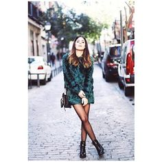 Insta-Envy! 10 Real-Girl Outfits With Tights #refinery29