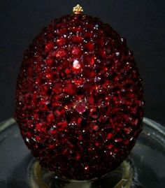 An egg made completely of rubies!