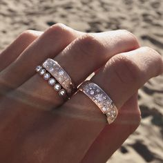 14kt gold and diamond Cosmic Constellation band – Luna Skye by Samantha Conn