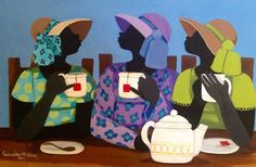 Cassandra Gillens - 15 Artworks, Bio & Shows on Artsy Black Girl Art, Black Women Art, Black Cartoon, Cartoon Art, Black Art Painting, Black Art Pictures, Tea And Books, Queen Art, Africa Art