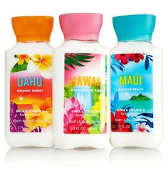 Aloha! Balance your life with the fragrances often associated with memories of sun-kissed skin, serene beach life, and scents of pink plumerias filling the air! Bath and Body works brings you their signature Hawaiian collection.