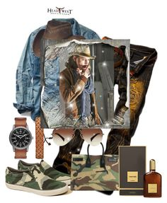 """""""Untitled #3325"""" by princhelle-mack on Polyvore featuring Ralph Lauren, Hollister Co., Arizona, Yves Saint Laurent, Ray-Ban, Tom Ford, men's fashion and menswear"""