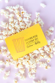 Popcorn Favors for Weddings & Parties with Custom Stamp | Club Crafted