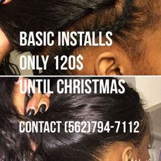 LADIES the holidays are here doing basic installs for 120 until Christmas every Thursday thru Saturday. This includes a net braiding installing trimming or layering and styling of your choice. For pricing and booking contact me (562)794-7112! Let's get it. BRING IN 3 friends and you'll get your install FREE! Spread the word #lahair #coronahairstylist #installdeals #cosmetologist #extensionspecialist #itslit #dealsondeals #bookyourappointmentsnow #carsonhair #longbeachhair by liyahhtajaa_