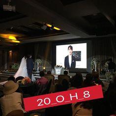 160423 IG 20_o_h_8 With #MINHO #Shinee  Minho sent video with congratulations on the wedding