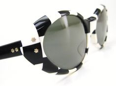 Vintage 60s Sunglasses Black and White by Vintage50sEyewear, $89.00