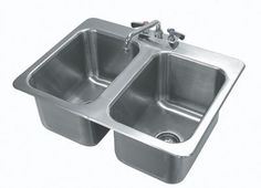Advance Tabco Drop-in Two Compartment Sink Model DI-2-10