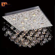 Promoción de ventas de montaje empotrado moderna plaza crystal chandelier lustre LED luces de la sala(China (Mainland))