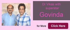 Dr. Vikas Gupta with super star govinda  See More At http://profilehaircentre.in/