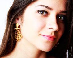 Swirls Küpe | Modapik altın kaplama earring 32 TL Swirls, Drop Earrings, Modern, Jewelry, Fashion, Jewellery Making, Moda, Trendy Tree, Jewelery
