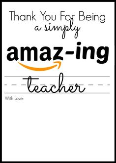 """What actually better method to say """"thanks"""" when compared with one-of-a-kind thanks gift inspirations they can. Teacher Thank You, Thank You Gifts, Teacher Appreciation Gifts, Teacher Gifts, Employee Appreciation, Teacher Stuff, Best Amazon Gifts, Amazon Christmas Gifts, Amazon Card"""