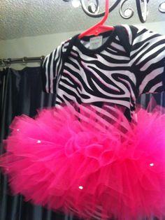 Sparkle Hot Pink Zebra Baby Onesie TuTu by TinkerTwirlsandTies, $29.00