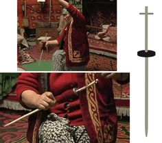 Western Mongolia – Kuliash, wife of Kubikhan, plying yarn. Instead of a hook her spindle has a small cross bar at the top end (see graphic to the right). She is rubbing the spindle down her thigh. Spinning Wool, Hand Spinning, Spinning Wheels, Drop Spindle, Hat Boxes, Yesterday And Today, Amazing Pics, Yarn Colors, Weaving