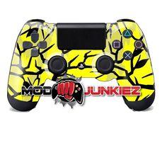 Hydro Dipped Yellow Predator Camo PS4 Dual Shock 4 Controller