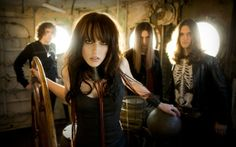 Halestorm, my new favorite rock band. Their lead singer, Lizzy Hale, has got some ridiculous vocals on her!!