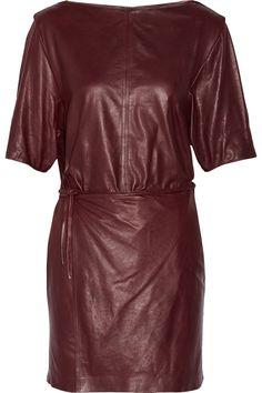ISABEL MARANT Falco Wrap-Effect Leather Mini Dress. #isabelmarant #cloth #dress