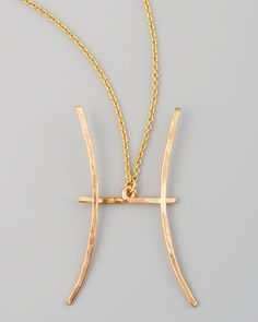 DETAILS This stylish zodiac necklace features a 2-inch long Pisces astrological sign pendant (February 19-March 20) in 14-karat gold fill or sterling silver. The delicate cable chain zodiac necklace i