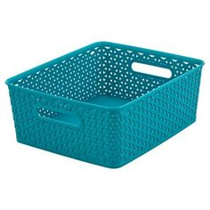 Y Weave Medium Storage Bin - Teal Blue - Room Essentials™