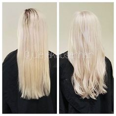 Regrowth 40g wella blondor + 60 g 6% + 15 g 9% + 1/16 @olaplex for 30 minutes in lowest heat. Toned with equal parts 10/6+10/81+10/0+9/01+1,9%+1/8 @olaplexnorge for 10 minutes <3 #wellaeducation #wellalife #wella #wellaprofessionals