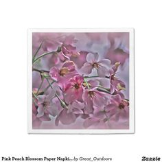 Pink Peach Blossom Paper Napkin - many styles
