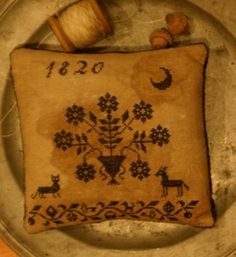 Stacy Nash Primitives ~ Blackwork Pinkeep kit